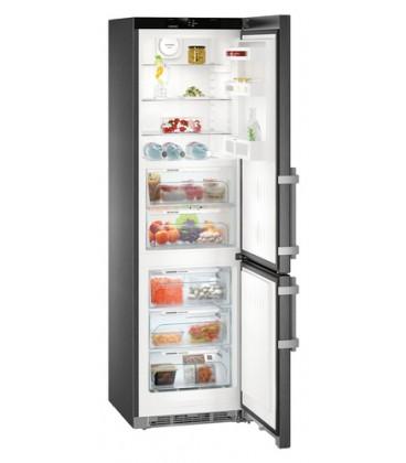 Liebherr CBNbs 4815 Comfort BioFresh NoFrost frigorifero con congelatore Libera installazione 343 L Nero