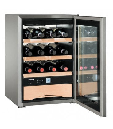 Liebherr WKes 653 Grand Cru Cantinetta termoelettrica Libera installazione Acciaio inossidabile 12 bottiglia/bottiglie