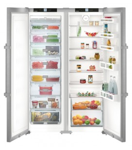 Liebherr SBSef 7242 Comfort NoFrost frigorifero side-by-side Libera installazione 634 L Argento