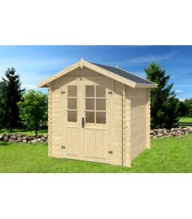 Esterni da Vivere Casetta Luisa di legno in Abete grezzo non trattatto, 208x208cm, casetta da giardino