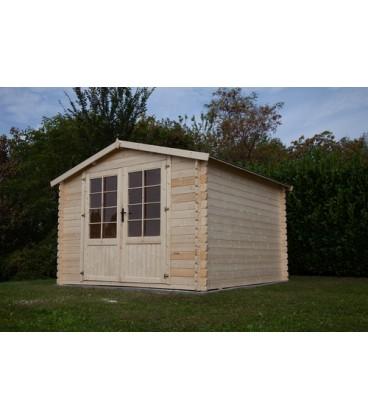 Esterni da Vivere Casetta Mary di legno in Abete grezzo non trattatto, 300x300cm, casetta da giardino