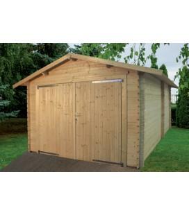 Esterni da Vivere Garage Eco in Abete grezzo non trattato, 318x558cm, casetta da giardino