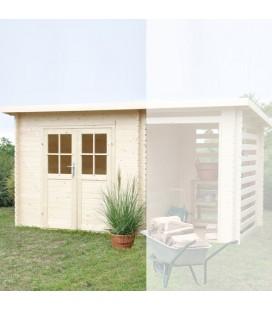 Esterni da Vivere Casetta di legno in Abete grezzo non trattato, 248x218cm, casetta da giardino