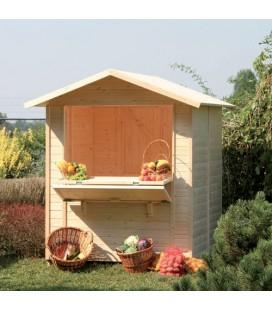 Esterni da Vivere Casetta di legno in Abete grezzo non trattato, 170x175cm, casetta da giardino