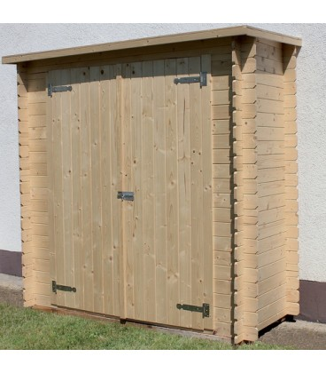 Esterni da Vivere Casetta di legno in Abete grezzo non trattato, 196x88cm, casetta da giardino