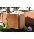 Esterni da Vivere Casetta di legno in Abete grezzo non trattato, 170x120cm, casetta da giardino