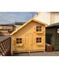 Esterni da Vivere Casetta di legno in Abete grezzo non trattato, 220x180cm, Case giocattolo
