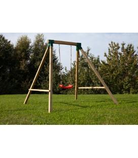 Esterni da Vivere Gioco Altalena singola per bambini, 160 x 230 x 195 cm, Attrezzature per altalena per parco giochi