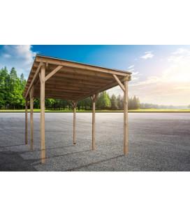 Esterni da Vivere Carport con copertura, Pino, 300 x 500 cm, garage e posto auto al coperto
