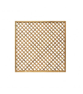 Esterni da Vivere Grigliati Premium, Pino, 180 x 180 cm, Recinzione da giardino