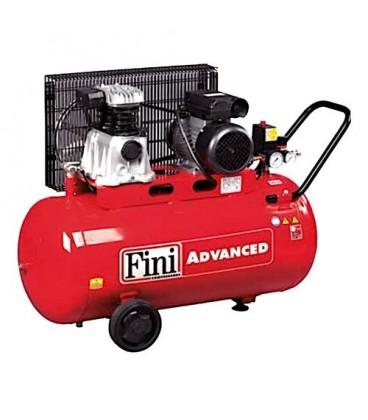 FINI MK 102N advanced Compressore bicilindrico a cinghia con serbatoio 90 lt 1,5 kW 10 bar