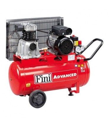 FINI MK102/N BMDC404FNM631 Compressore bicilindrico a cinghia con serbatoio 50 lt 1,5 kW 10 bar