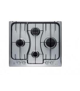 Electrolux RGG 6242 LOX piano cottura Nero, Acciaio inossidabile Da incasso Gas 4 Fornello(i)