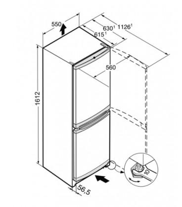 Liebherr CU 2831-20 frigorifero con congelatore Libera installazione 263 L F Bianco
