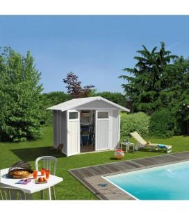Grosfillex Capanno da giardino in PVC Utility 4,9 m Grigio verde