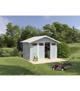 Grosfillex Capanno da giardino in PVC Utility 7,5 m² Grigio blu