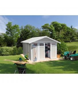 Grosfillex Capanno da giardino in PVC Utility 11 m² Grigio verde