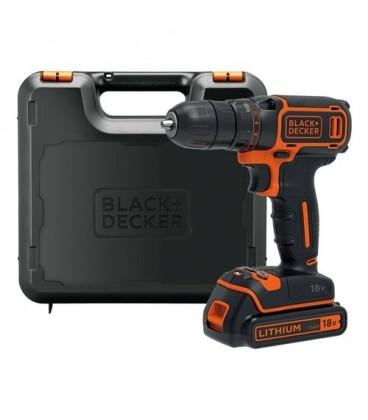 Black&Decker BDCDC18K Trapano avvitatore con batteria Litio 18V 1,5 Ah con valigetta