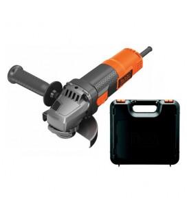 Black&Decker BEG210K-QS Smerigliatrice angolare 900W 115 mm con tecnologia No-Volt Release e Soft Start con valigetta