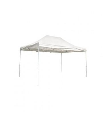 Amicasa F006 Gazebo pieghevole professionale con telo impermeabile m 3x4,5 bianco