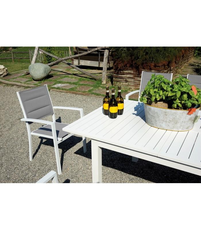 Tavolo greenwood san gimignano allungabile 160 210 x 90 cm for Arredo giardino alluminio