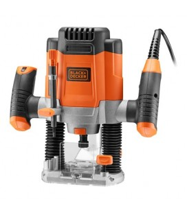 Black&Decker KW1200EKA Elettrofresatrice 1200W con regolazione elettronica della velocità + 6 frese in dotazione