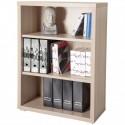 Composad Libreria modulare tre vani bassa colore frassino