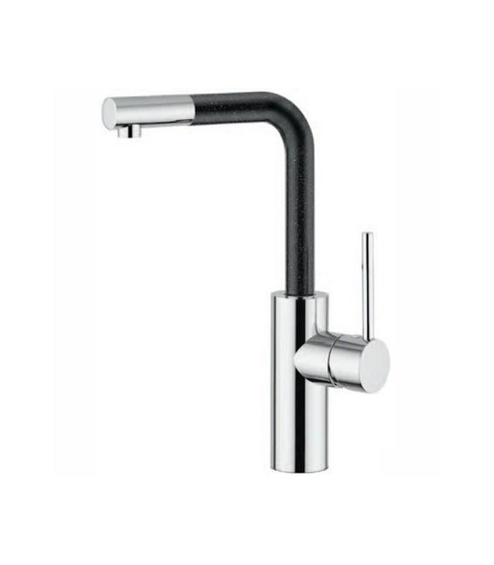 Argo rubinetterie miscelatore monocomando lavello cucina corpo in ottone e acciaio cromo lucido - Miscelatore cucina perde acqua ...