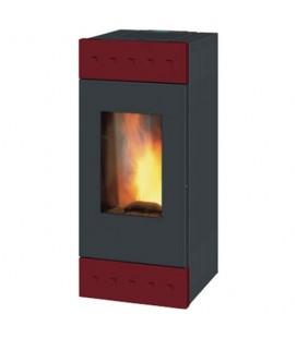 Tile XW LH12 Caminetti Montegrappa LH12 Tile Bordeaux. Il corpo stufa a legna LH nasce ad aria calda a convezione naturale, s..