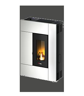 SPIRIT3 Cadel SPIRIT3 Bianca 7019023. Una stufa dalle forme snelle e compatte, un design moderno ideale per ambienti dalle di..