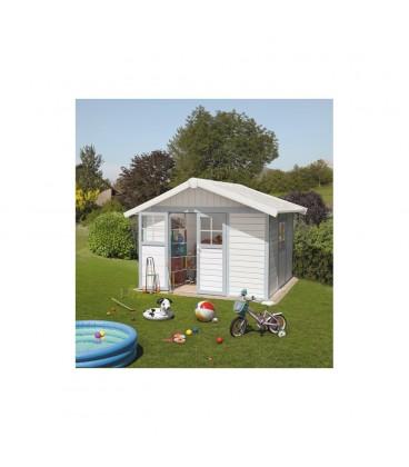 casetta da esterno in PVC GROSFILLEX da giardino/Attrezzi 7,5 MQ Rossa