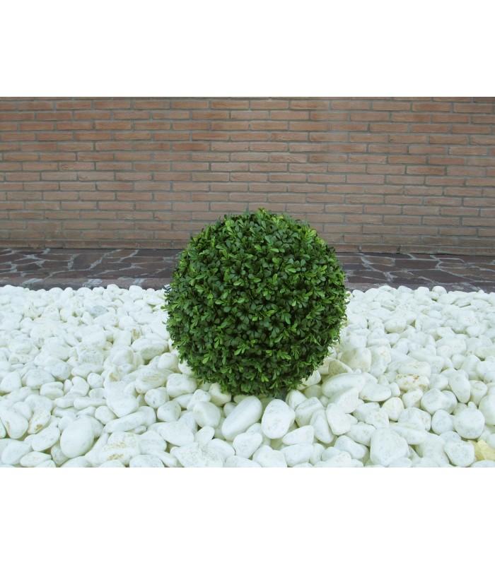 Pianta artificiale palla di bosso 33cm viridium mazan for Pianta di bosso prezzo
