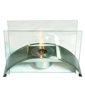 BIOCAMINO al Bioetanolo da tavolo - ACCIAIO Mod ANCONA Tecno Air ystem