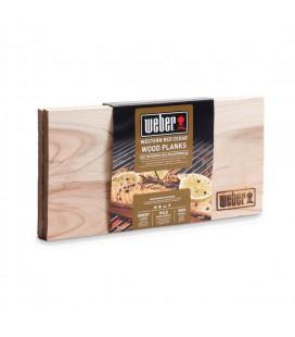 Panetto di affumicatura Weber in cedro (confezione di 2 pezzi)