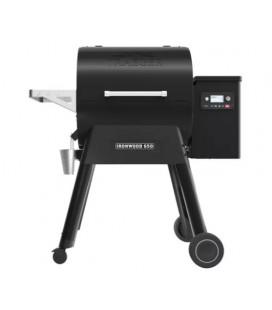 Traeger Barbecue a pellet Ironwood 650 con WiFi con modalità Super Smoke per 12 coperti