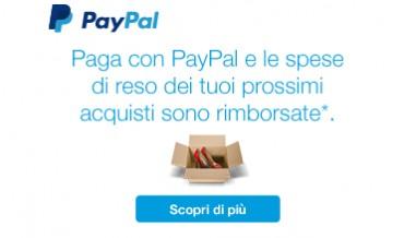 Reso gratuito se paghi con Paypal